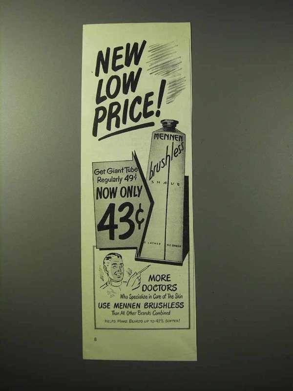 1950 Mennen Brushless Shave Cream Ad!