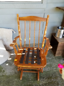 Wood glider chair for sale! Great for rocking baby!