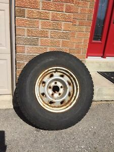 """4 Used winter tires on 15"""" rims"""
