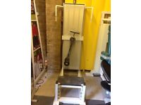 Hamstring curl commercial gym machine weight plates