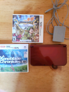 New Nintendo 3DS with games and charger