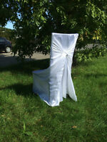 $1.00 CHAIR COVER RENTALS + OTHER WEDDING DECOR AVAILABLE