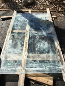 "Free single pane sheet of glass 46"" x 75"""