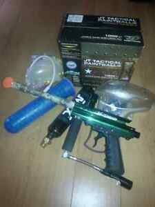 Paintball marker with accessories