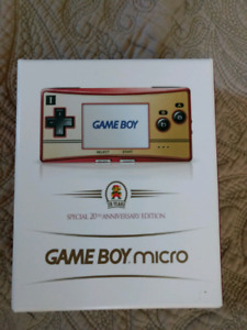 Nintendo Gameboy Micro 20th Anniversary Edition with Games