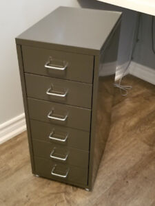 *NEW*HELMER_Office Drawer unit on casters, grey_assembled $40