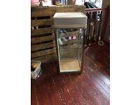 Art deco display cabinet made from old fridge , used for jewellery / accessories in vintage store