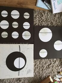 Set of three canvases