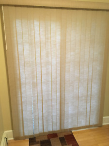 Sliding fabric blind for 5 foot patio door