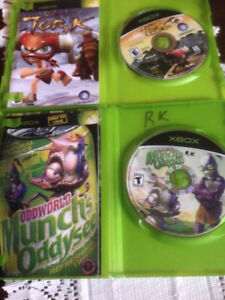70 X Box Games  Good Very Good to excellent and new (one owner)
