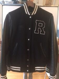 Roots Canada leather varsity jacket! Women's size 4