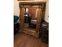 Chunky gold frame mirror