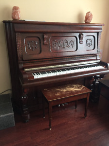 Ancien magnifique piano droit - Great old piano Upright