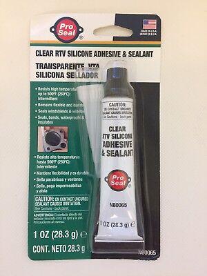 3 x 1oz CLEAR RTV SILICONE ADHESIVE & SEALANT N80065