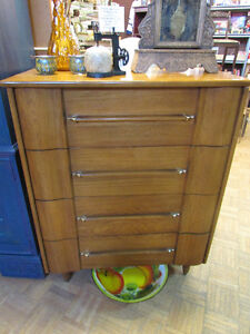 MID CENTURY MODERN ELM DRESSERS AND NIGHT TABLE Edmonton Edmonton Area image 1