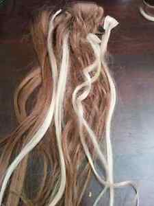 Long blonde and brown  clip in extensions