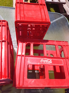 3 Coca Cola crates 30 years old.