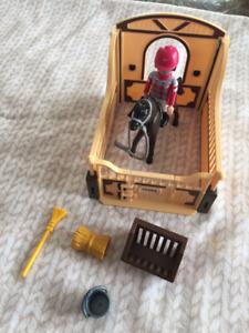 Playmobil 5112 pure sang et jockey ( complet)