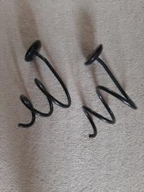 3 x Black Metal Hairdryer Straightener Holders