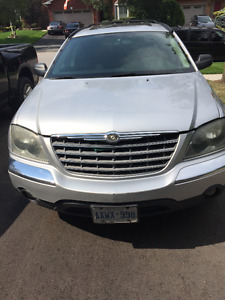 2005 Chrysler Pacifica silver SUV, Crossover