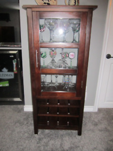 Wine Glass and Bottle Cabinet - Solid wood