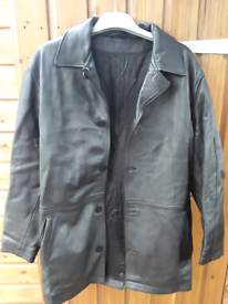 Gents Leather Jacket Size Small