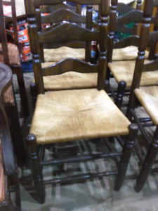 Old table  with 6 chairs
