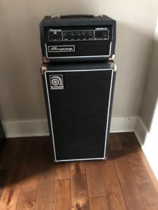 Ampeg Micro-CL Bass Amp Stack 100-Watt Head with 2 X 10 Cabinet