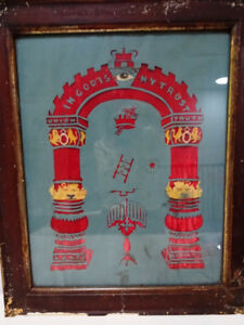 1800s ORANGE ORDER folk art CUTOUT lodge FRATERNAL BROTHERHOOD