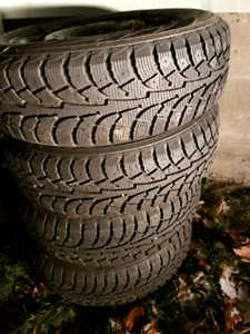 4 - Hankook iPike 195/65/15 on 5x100 steelies winter tires