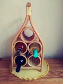 Boho Bamboo Wine Rack