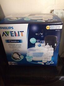 New Philips Avent Classic + Bottle Feeding Essentials Set