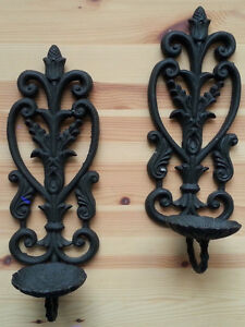 ☺ Cast Iron Candle Holders $20.00 pair
