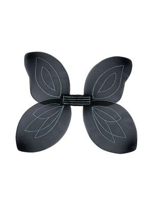 Adult Black Fairy Wings Silver Glitter Fancy Dress Christmas Halloween - Fairy Glitter Kostüm