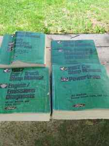 4-- 1982 FORD CAR /TRUCK SHOP MANUAL BOOKS