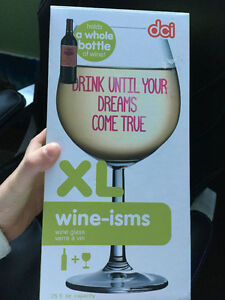 Drink until your dreams comes true - full wine bottle wine glass