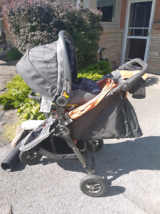 City mini GT stroller & Peg Perego car seat & both adapters