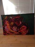 Large beautiful flower painting