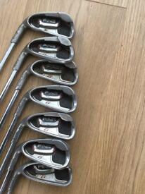 PING G20 left handed irons, ping putter and callaway driver