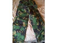 Army camo water proof trousers
