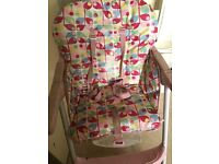 Mothercare wide high chairs with tray
