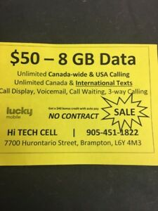 $75 10.5GB $50 8.5GB DATA UNLIMITED CALL TXT  US & CANADA
