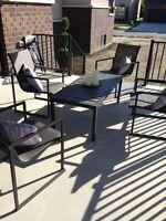 Modern dark grey patio set