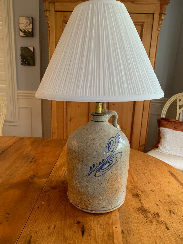 Hand-thrown Pottery Lamp by artist Jani Walsh