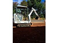Terex mini digger & trailer for sale