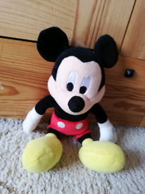 Mickey Mouse soft plush toy. Only £2.