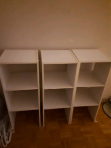 White ikea shelves