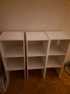 White ikea shelves