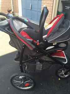 Graco Travel System - Car Seat base, Carry Cot and Stroller