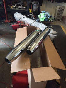 2011 V star stock exhaust pipes
